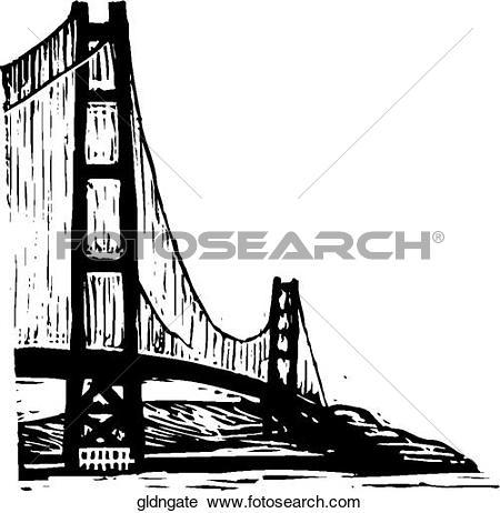Clipart of Golden Gate gldngate.