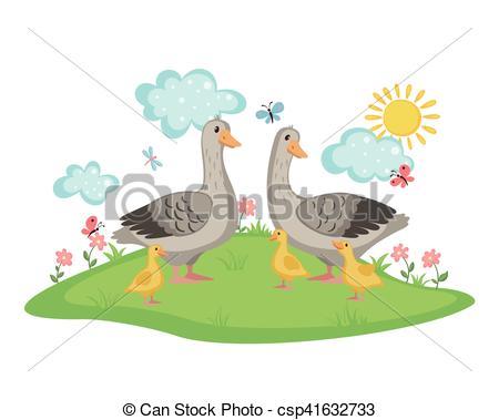 Vectors of Happy goose family..