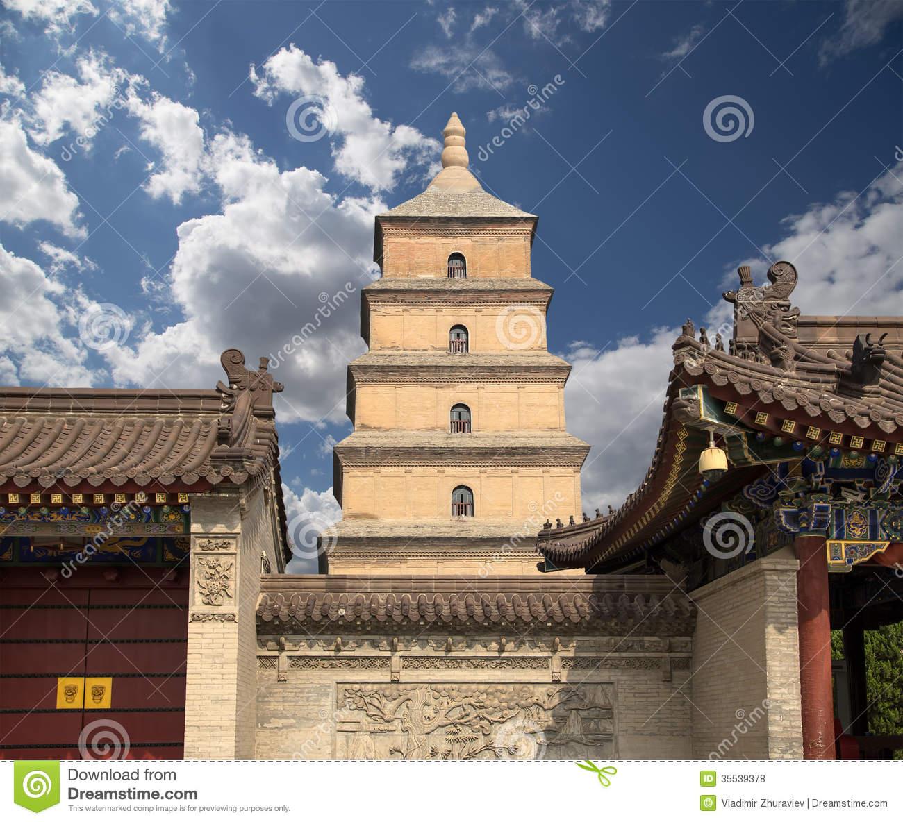 Giant Wild Goose Pagoda Xian (Sian, Xi'an), Shaanxi Province.