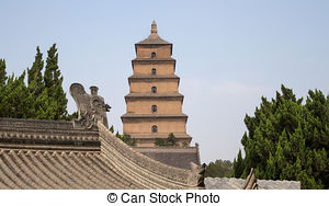 Stock Photo of Giant Wild Goose Pagoda (Big Wild Goose Pagoda), is.