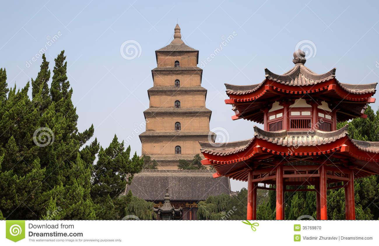 Giant Wild Goose Pagoda, Xian (Sian, Xi'an), Shaanxi Province.