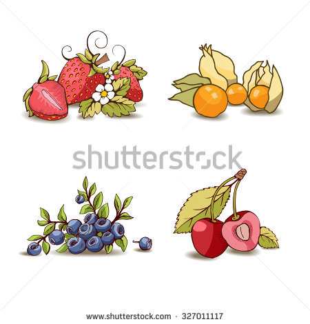 Bunch Fruits Mature Two Stock Photos, Royalty.
