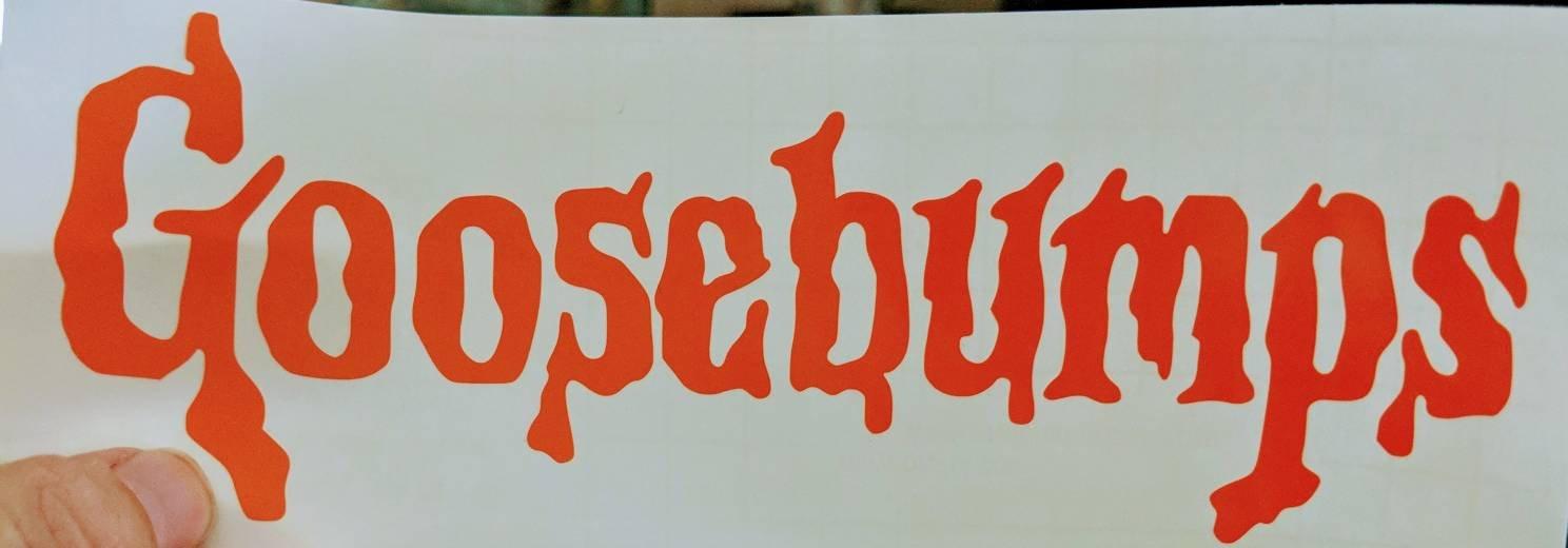 Full Goosebumps Logo/ Goosebumps G w/ Splatter Vinyl Decal for Car,  Electronics, Home, Yeti.