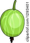 Clipart of a Happy Gooseberry Character Presenting and Giving a.