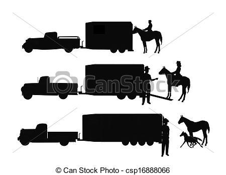 Livestock Trailer Clipart.