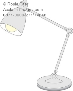 Royalty Free Clipart Illustration of a Gooseneck Desk Lamp.