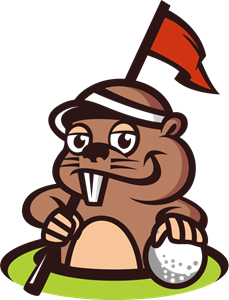 Gopher animal mascot for golf Logo Vector (.EPS) Free Download.