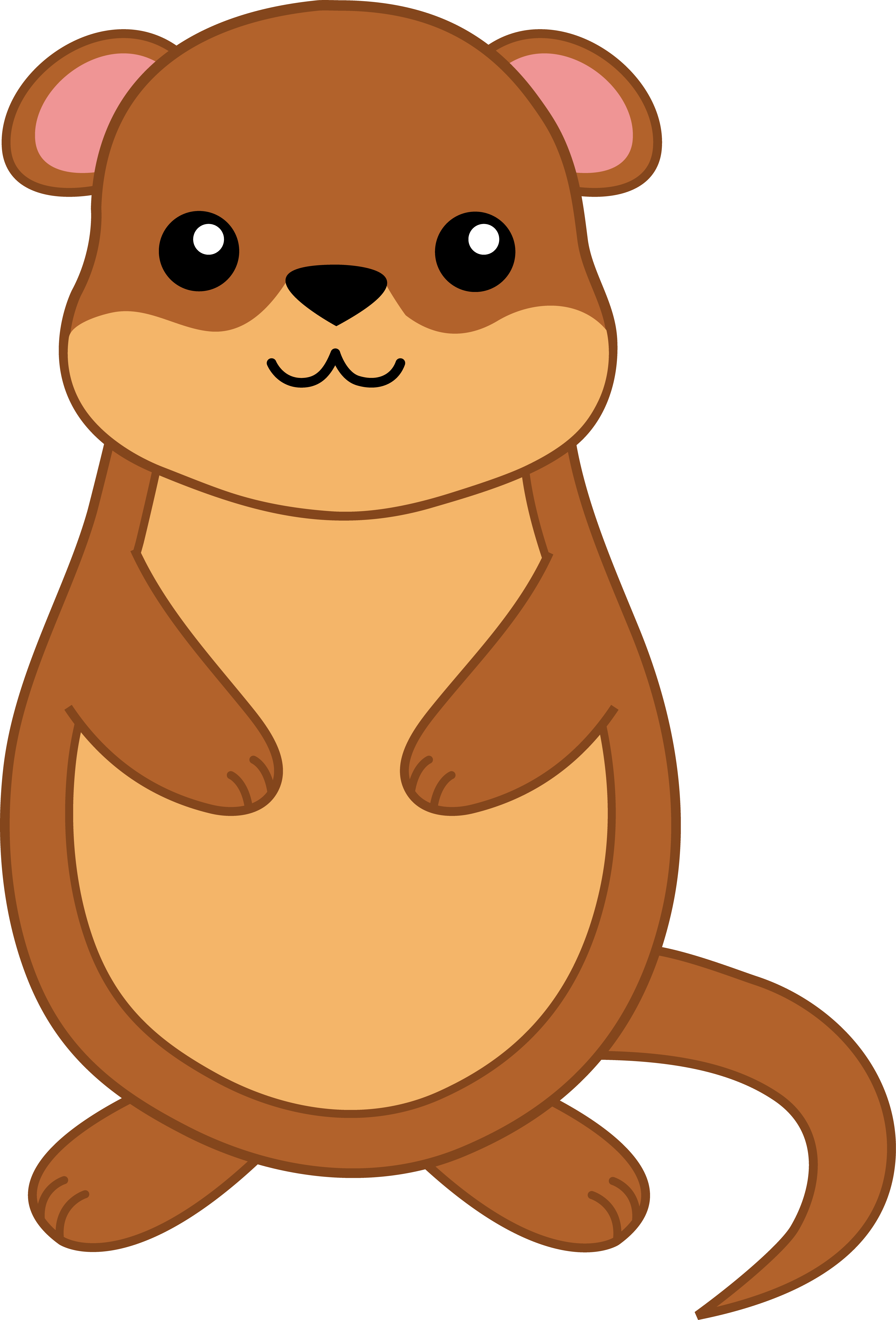 Cute gopher pictures clipart.