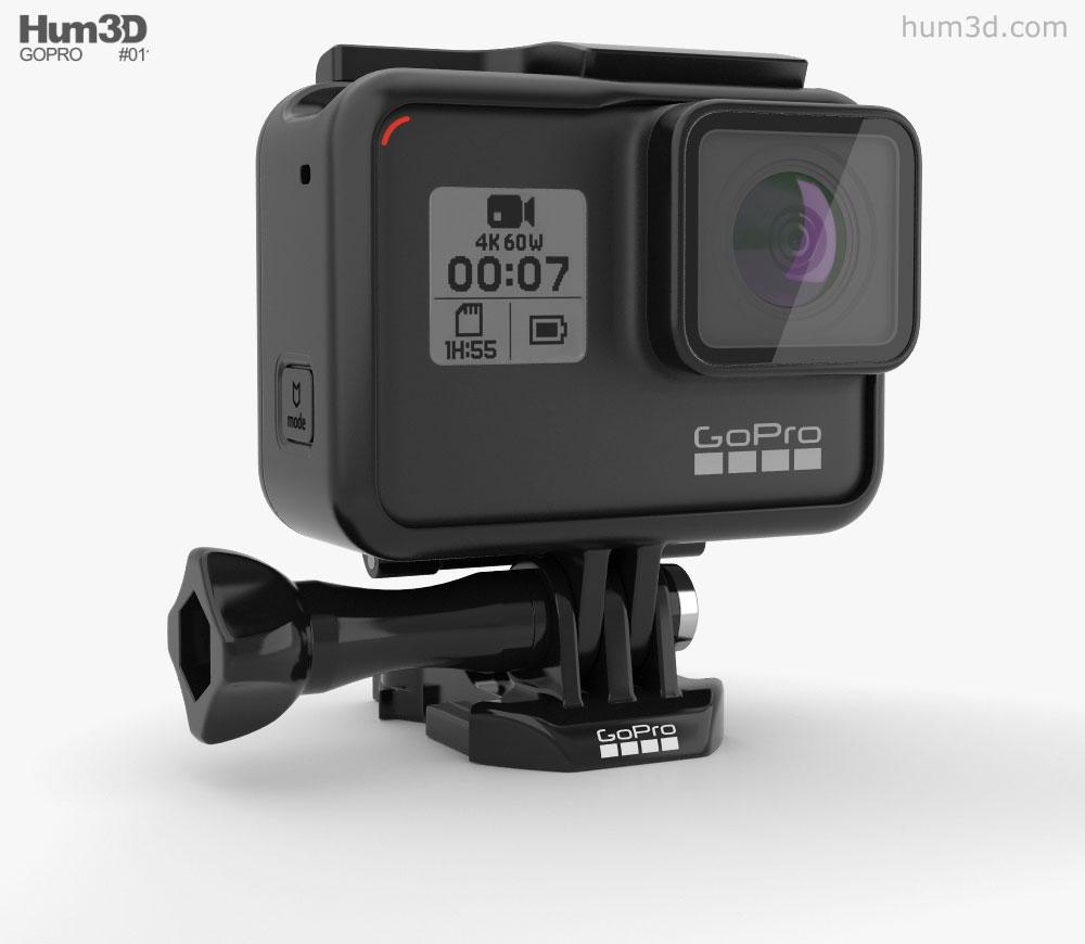 GoPro HERO7 3D model.