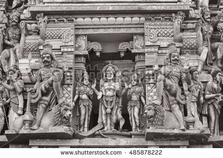 Gopuram Stock Photos, Royalty.