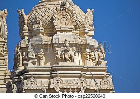 Stock Photo of Detail of Shri Balaji temple in Somnath.