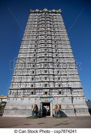 Temple gopuram clipart.