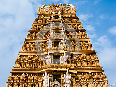 Gopuram Of Shiva Temple At Vellore Fort. Royalty Free Stock Images.