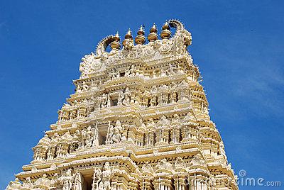 Gopuram (tower) Of Hindu Temple Stock Image.