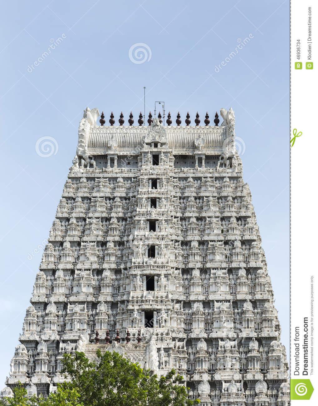 Southern Gopuram Of Thiruvannamalai Temple. Stock Photo.