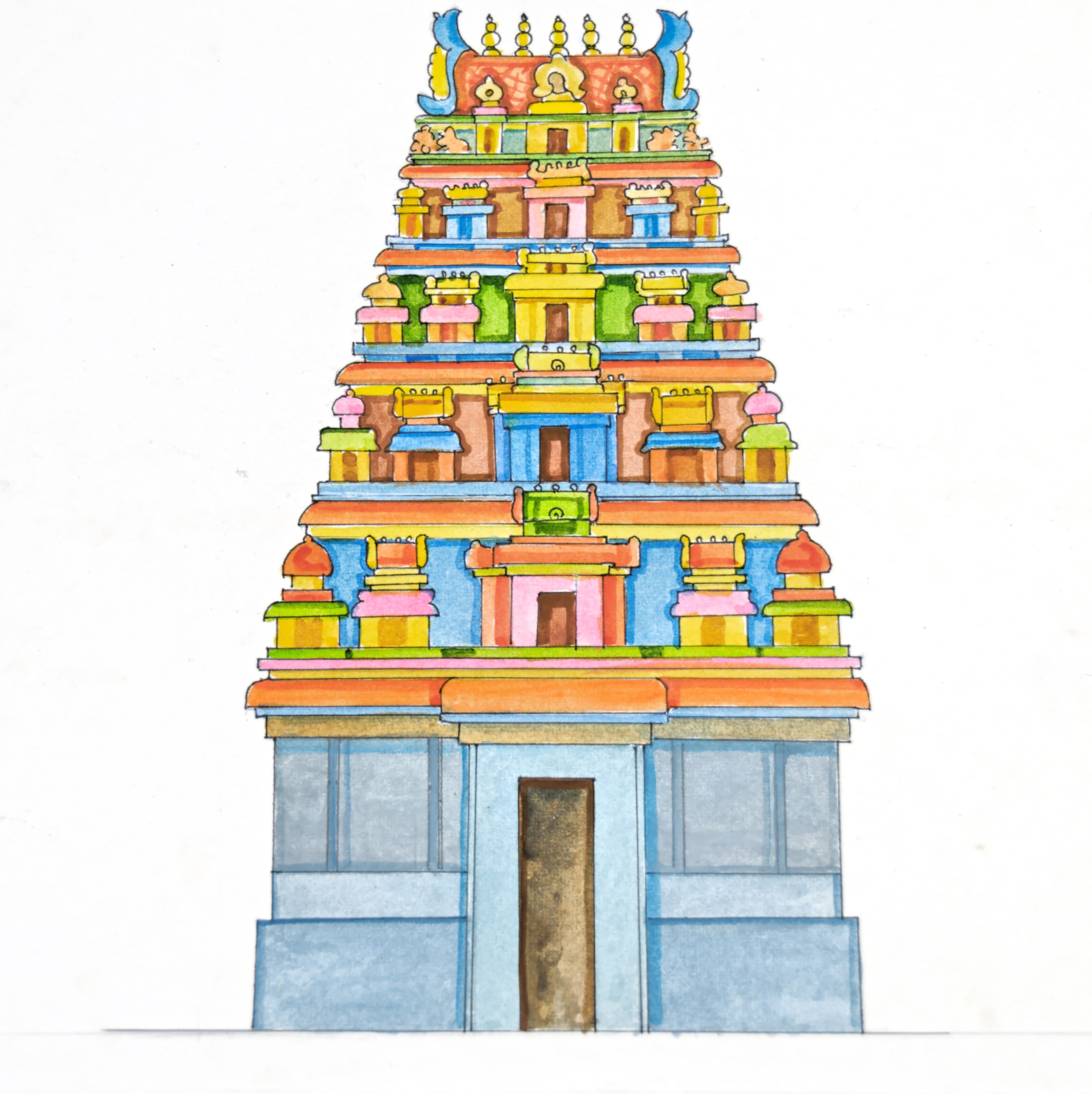 Temple gopuram clipart 10 » Clipart Station.