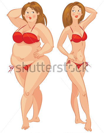 Skinny Girl Person Clipart.