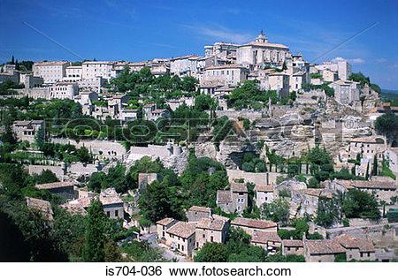 Stock Images of Gordes, Luberon Mountains is704.