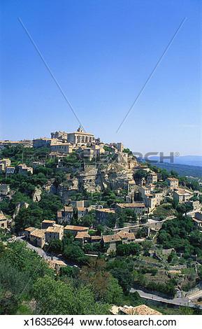 Stock Photo of Gordes, Vaucluse, Provence.