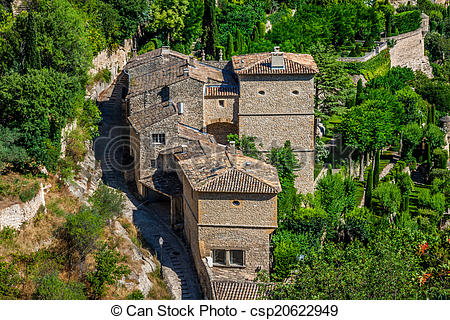 Stock Photo of Gordes medieval village in Southern France.
