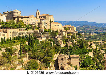 Stock Image of Gordes medieval village in Southern France.