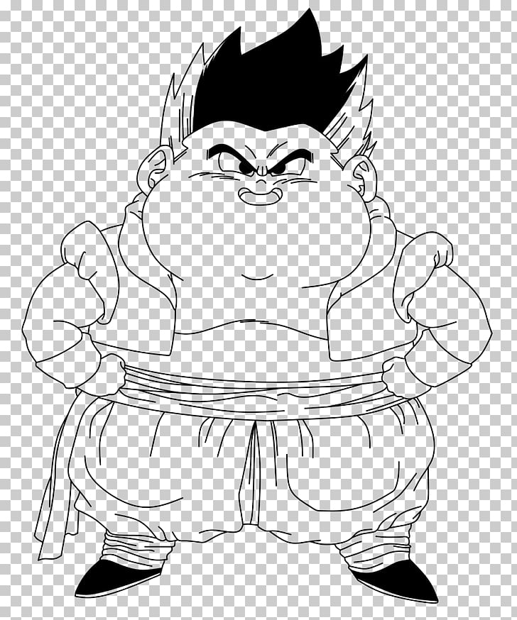Drawing Line art Gotenks , GORDO PNG clipart.