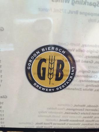 Logo on menu.