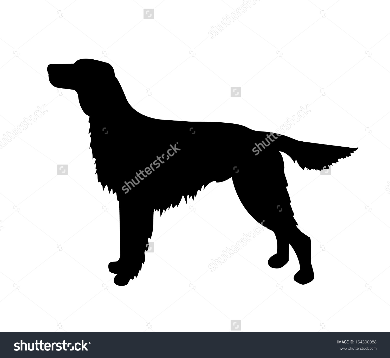 Vector Dog Silhouette Irish Setter Stock Vector 154300088.