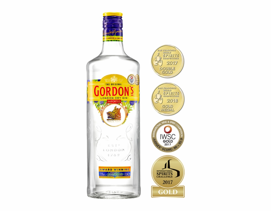 Gordon's London Dry Gin Export.