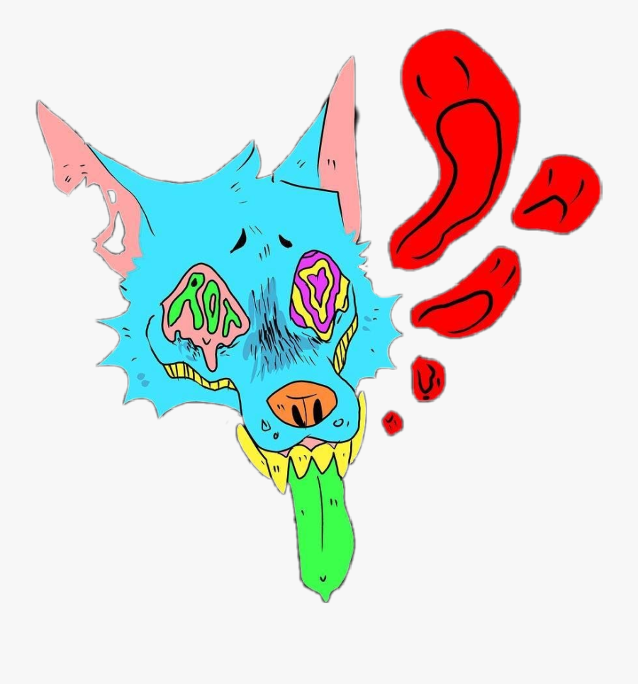 wolf #furry #edgy #gore #edgygore #blue #soul #pastellgore.