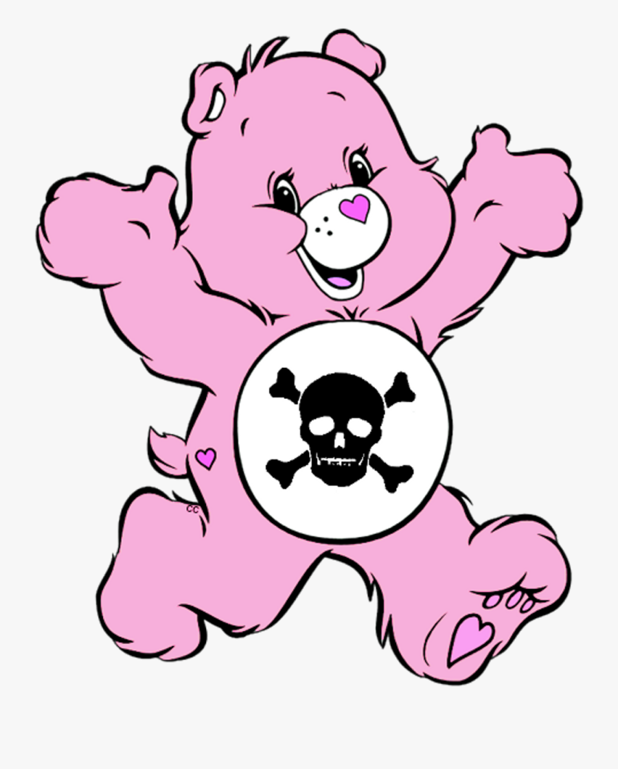 Pink Carebear Gore Aesthetic Freetoedit Clipart , Png.