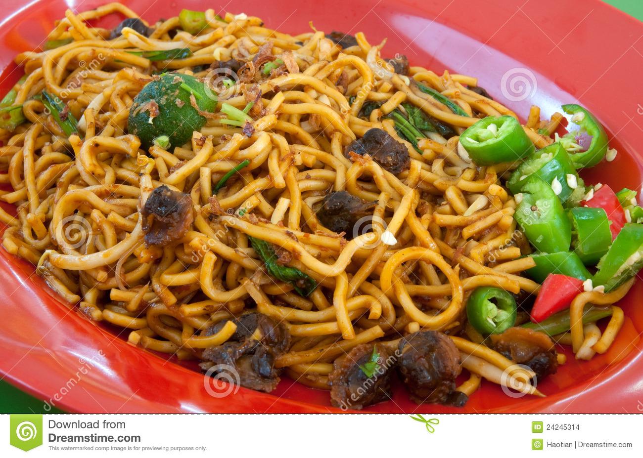 Mee Goreng Kerang Stock Images.