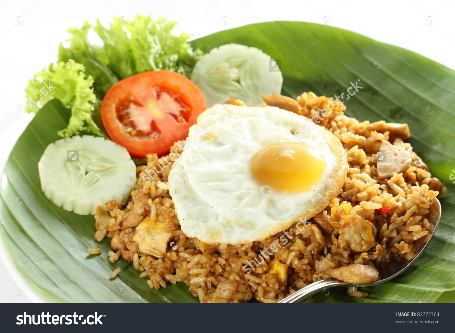 Nasi Goreng Indonesian Fried Rice Stock Photo 82772764.