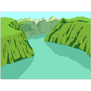 Royalty Free River Gorge Clip Art, Vector Images ... |Clipart Columbia Gorge