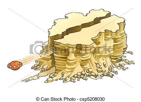 Stock Illustration of Very narrow gorge in deserted csp5208030.