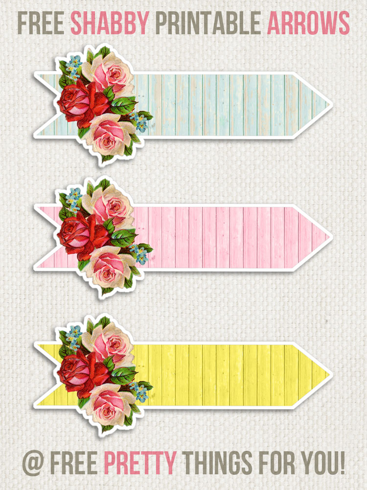 Free Clipart Images: Gorgeous Shabby Printable Arrows.