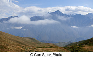 Stock Photographs of Gorgeous view on the green mountain.