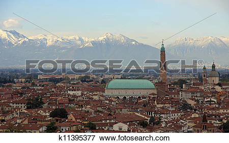 Picture of gorgeous view of the city of Vicenza k11395377.
