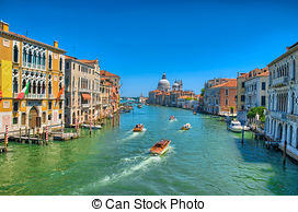 Stock Photos of Gorgeous view of the Grand Canal and Basilica.