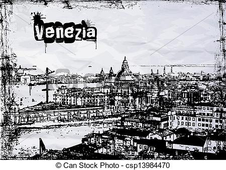 Vectors Illustration of Gorgeous view of the Grand Canal.