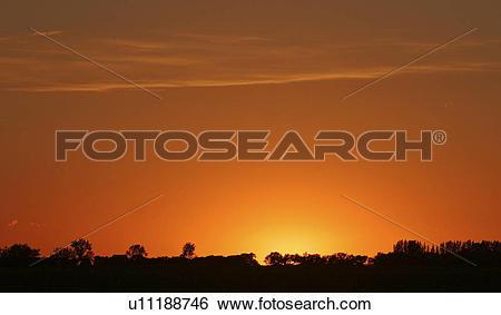 Stock Images of western, prairie, saskatchewan, scenic, sunset.