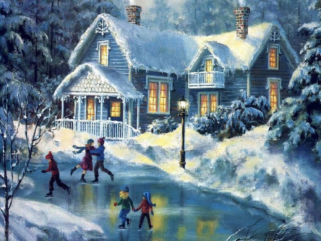 Christmas Winter Scenes.