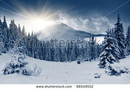 Winter Landscape Stock Photos, Royalty.