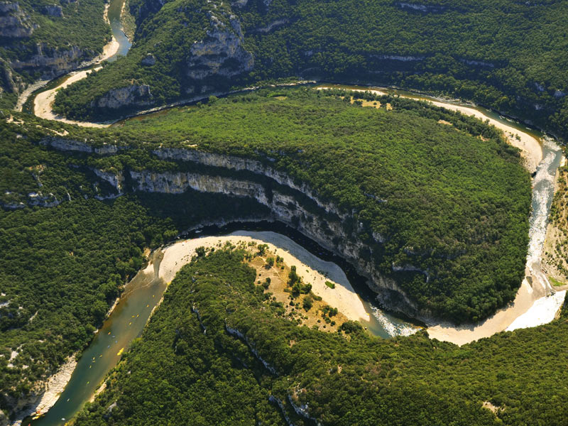 Les Gorges de l'Ardèche et Vallon Pont d'Arc.