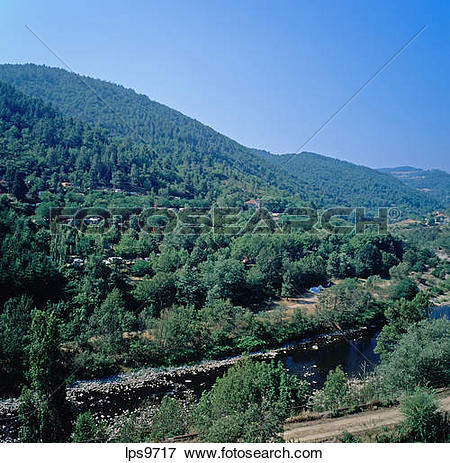 Picture of CARAVAN PARK AND CAMPSITE OVERHANGING ARDECHE RIVER.