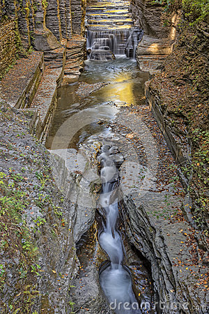 Enfield Gorge Trail Colors Stock Photo.
