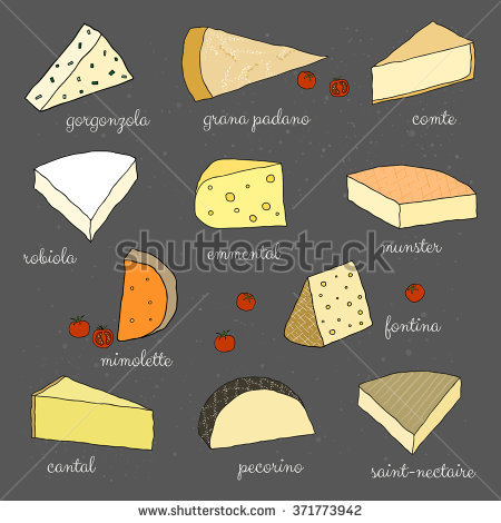 Munster Cheese Stock Photos, Royalty.