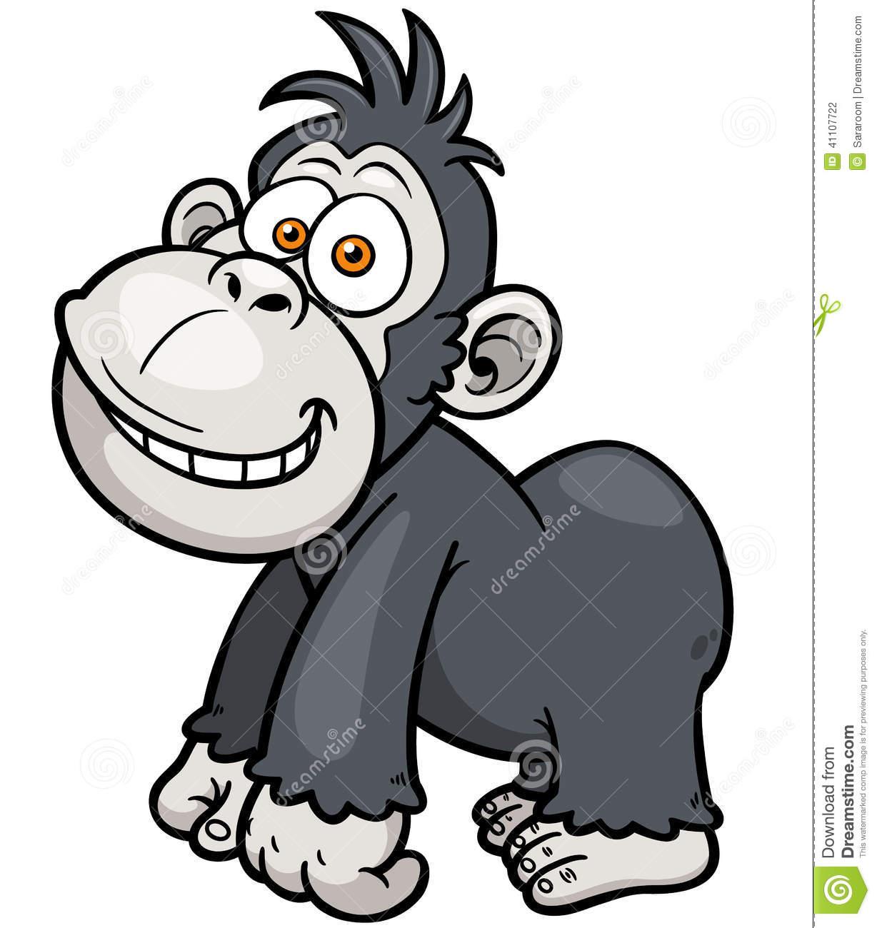 Gorilla Stock Vector.