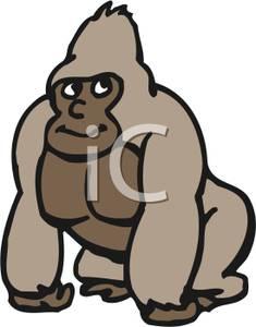 Clip Art Gorilla Baby Clipart.