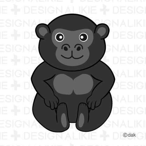 Cute Gorilla Clipart.